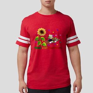 Peace Love Vegetables Mens Football Shirt