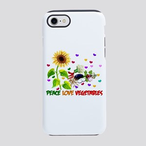Peace Love Vegetables iPhone 8/7 Tough Case