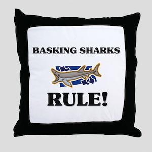 Basking Sharks Rule! Throw Pillow