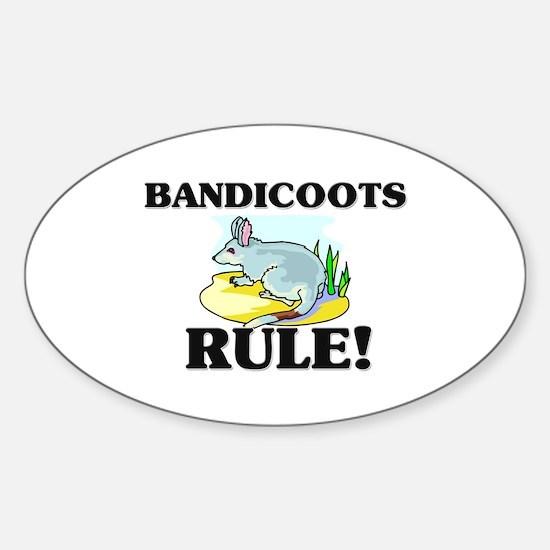 Bandicoots Rule! Oval Decal
