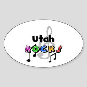 Utah Rocks Oval Sticker