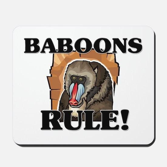 Baboons Rule! Mousepad