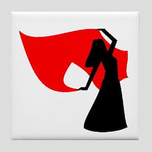 Red Veil Dancer Tile Coaster