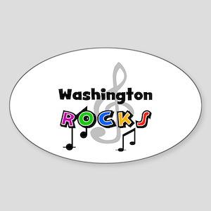 Washington Rocks Oval Sticker