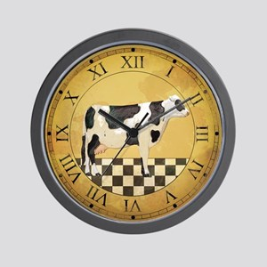 Country Cow Clock