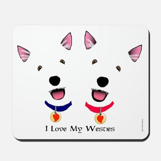 Westie Love X 2 Mousepad