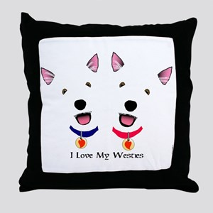 Westie Love X 2 Throw Pillow
