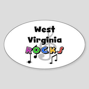 West Virginia Rocks Oval Sticker