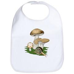 Snail in Mushroom Garden Bib