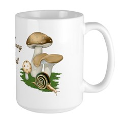 Snail in Mushroom Garden Large Mug