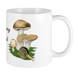 Snail in Mushroom Garden Mug