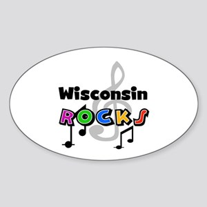 Wisconsin Rocks Oval Sticker