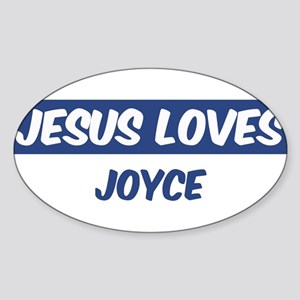 Jesus Loves Joyce Oval Sticker