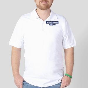 Jesus Loves Annette Golf Shirt
