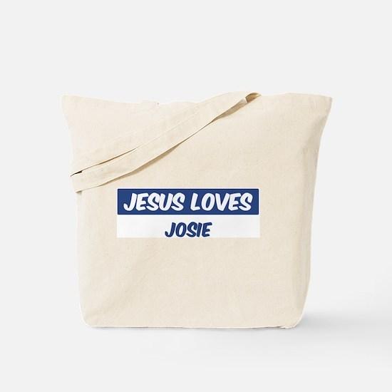 Jesus Loves Josie Tote Bag