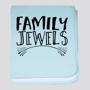 family jewels baby blanket