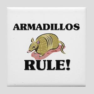 Armadillos Rule! Tile Coaster