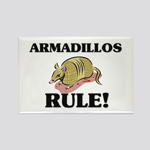 Armadillos Rule! Rectangle Magnet