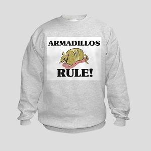 Armadillos Rule! Kids Sweatshirt
