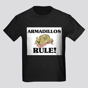 Armadillos Rule! Kids Dark T-Shirt