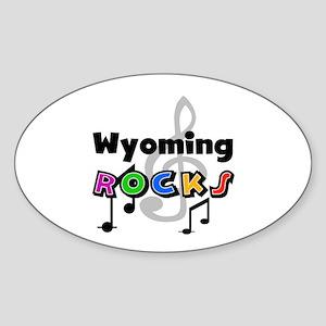Wyoming Rocks Oval Sticker