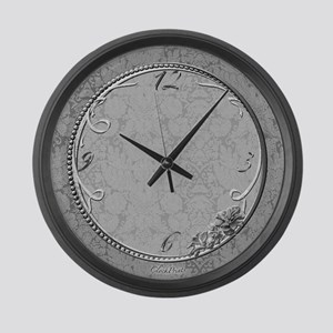 Hibiscus Large Wall Clock