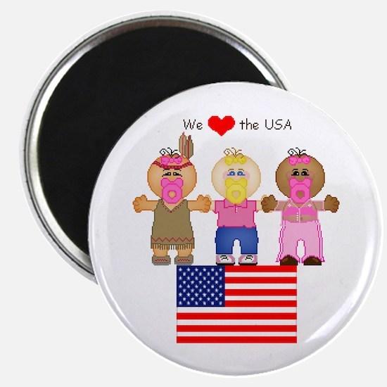 I Love USA Magnet