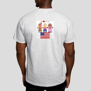 I Love USA Ash Grey T-Shirt