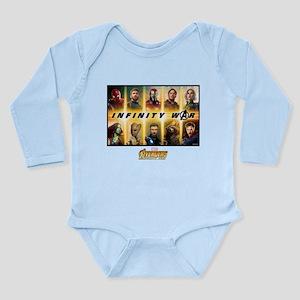 Avengers Infinity War Long Sleeve Infant Bodysuit
