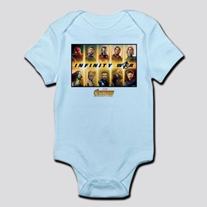 Avengers Infinity War Team Baby Light Bodysuit
