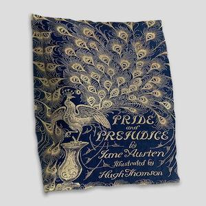 Pride and Prejudice, Peacock; Vintage Art Burlap T