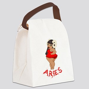 BBW Aries Red Canvas Lunch Bag