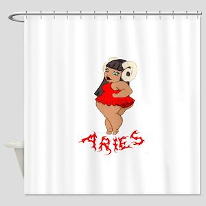 BBW Aries Red Shower Curtain