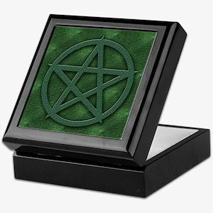 Earthy Green Pentagram Keepsake Box