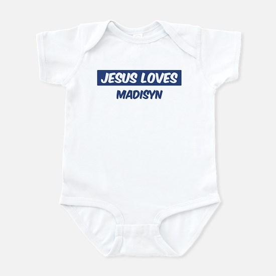 Jesus Loves Madisyn Infant Bodysuit