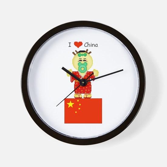 I Love China Wall Clock