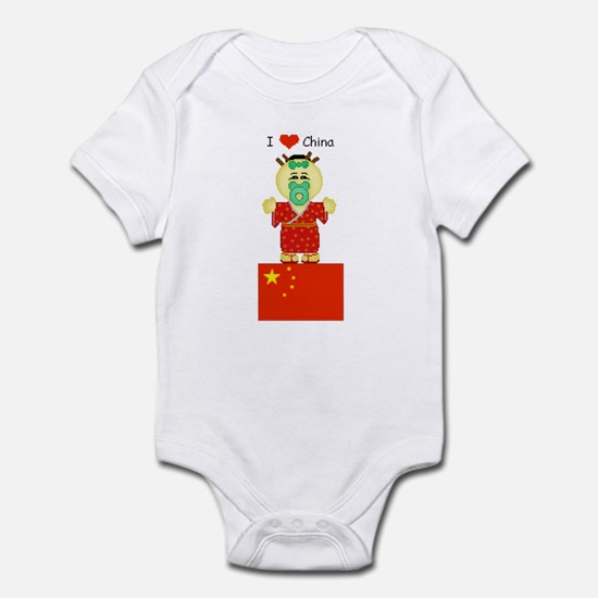 I Love China Infant Creeper