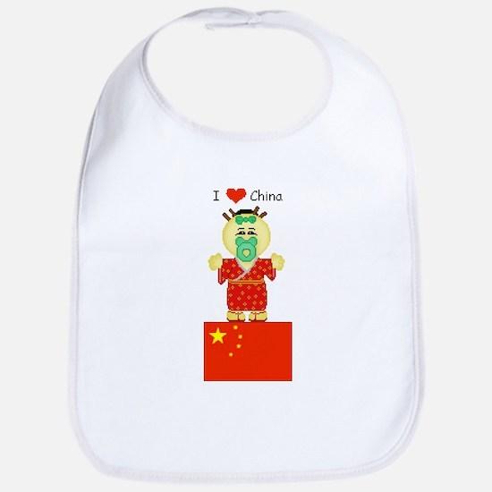 I Love China Bib
