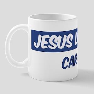 Jesus Loves Cara Mug