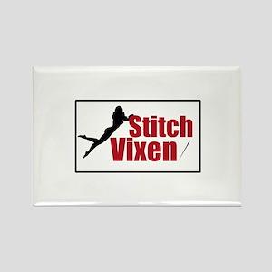 Stitch Vixen Rectangle Magnet