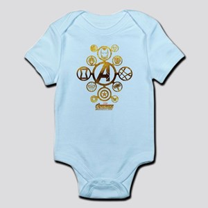 Avengers Infinity War Icons Baby Light Bodysuit