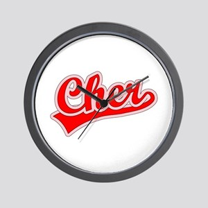 Retro Cher (Red) Wall Clock