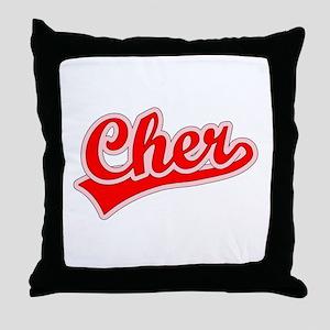 Retro Cher (Red) Throw Pillow