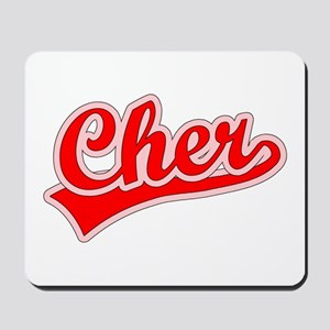 Retro Cher (Red) Mousepad