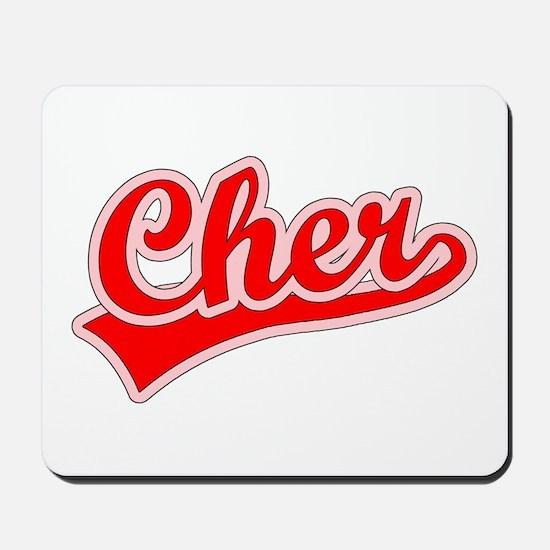 Retro Cher (Red) Mousepad