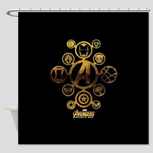 Avengers Infinity War Icons Shower Curtain
