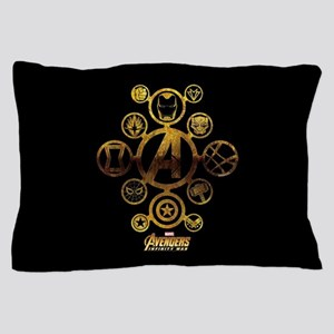 Avengers Infinity War Icons Pillow Case