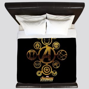 Avengers Infinity War Icons King Duvet