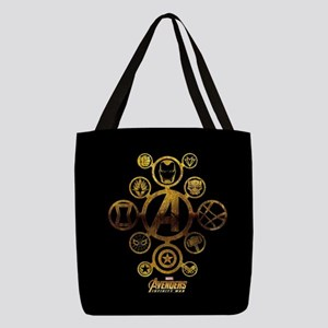 Avengers Infinity War Icons Polyester Tote Bag