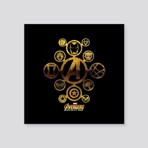 """Avengers Infinity War Icons Square Sticker 3"""" x 3"""""""